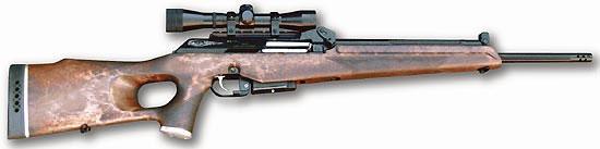 «Вепрь-308 Супер» с установленным оптическим прицелом. Вид справа