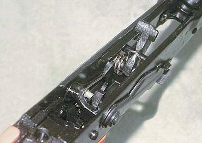 Ударно-спусковой механизм карабина «Вепрь». Курок спущен