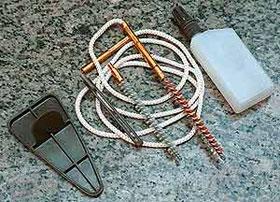 Особенность принадлежности - мягкий шомпол из капронового шнура с металлическими наконечниками