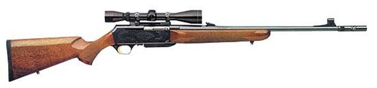 Самозарядный карабин Browning BAR II с системой BOSS, которая снижает воспринимаемую стрелком отдачу на 10-15%