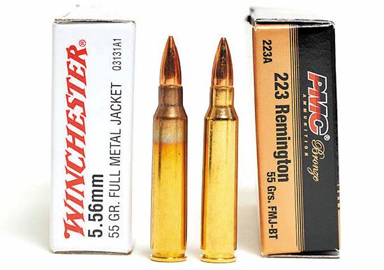 Патроны .223  Remington и 5,56 NATO никак не отличаются внешне, однако  последние заметно «горячее» — давление пороховых газов при выстреле  выше