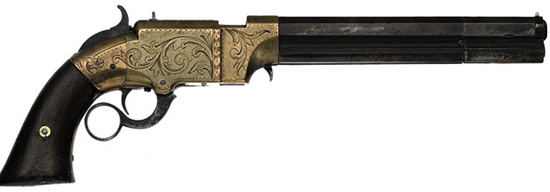 Пистолет «Вулканик» можно считать родоначальником всех рычажных систем.