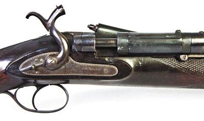 У ружья Снайдера по наследству от шомполок остался ползунковый предохранитель, запирающий взведенный курок