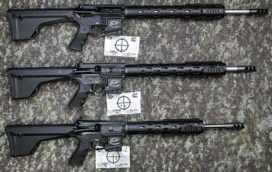 Трое из ларца (сверху вниз): Colt PRO CRP-20, Colt PRO CRP-18, Colt PRO CRP-16. Отстрелочные мишени прилагаются