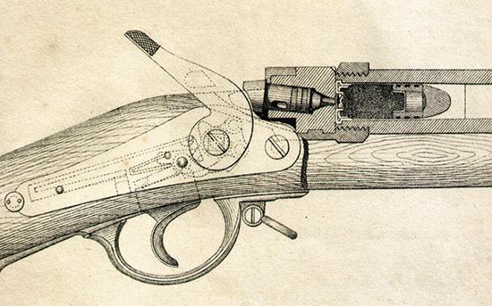 Схема ударно-спускового механизма винтовки системы Крнка.