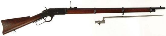 «Мушкет» Винчестер модели 1873 года под револьверный патрон калибра .44-40 – попытка создать милитаризованную модель для Национальной Гвардии США, 1870-80е годы