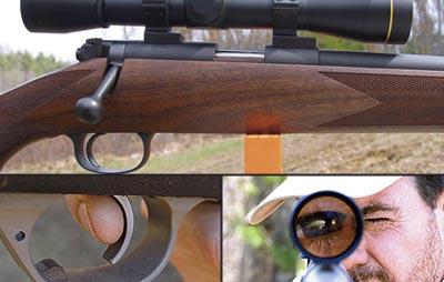 Для точной стрельбы важны баланс винтовки и хорошая координация между глазом и пальцем, нажимающим на спуск. Нажать на спуск нужно в тот момент, когда глаз скажет «давай!» - именно так вы попадёте туда, куда целитесь.