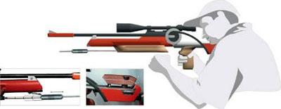 Дополнительные грузы позволяют быстро менять баланс винтовки