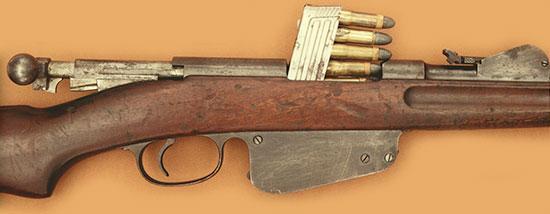 Steyr Mannlicher M1886 при заряжании