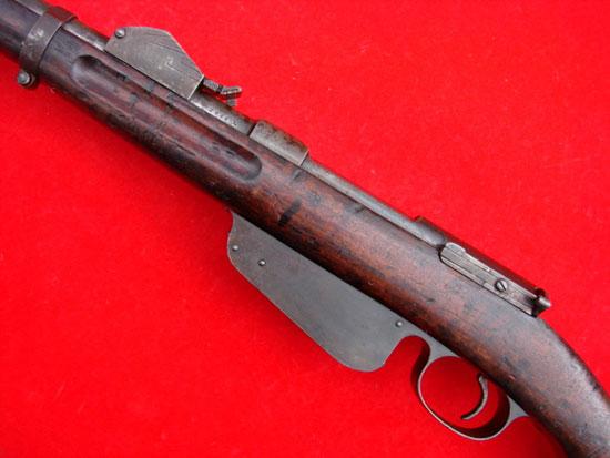 Steyr Mannlicher M1888-90 (хорошо видны насечки на боковой поверхности прицела)