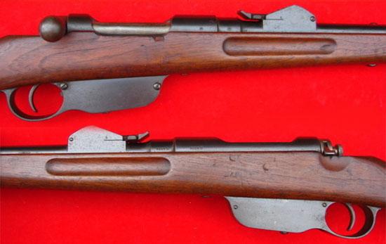 Вид на магазин, ствольную коробку и затвор Steyr Mannlicher M1890 Cavalry Carbine