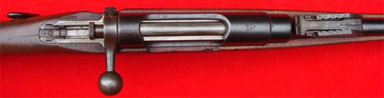 Вид на затвор предохранитель и прицел Steyr Mannlicher M1890 Cavalry Carbine