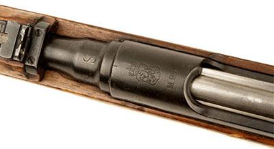 Казенная часть Steyr Mannlicher M1895/30 (хорошо видно клеймо в виде буквы «S»)