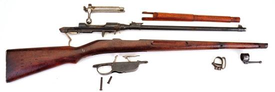 Основные составляющие карабина Steyr Mannlicher M1895