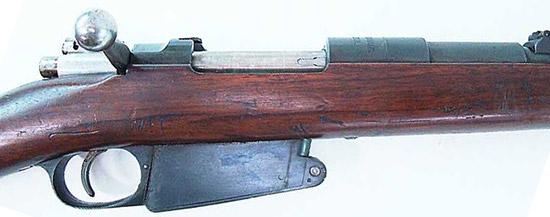 Вид на элементы управления Mauser 1889