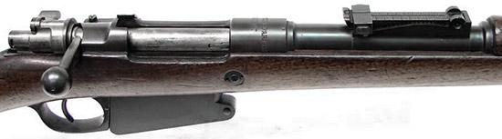 Вид на элементы управления Mauser 1889/36