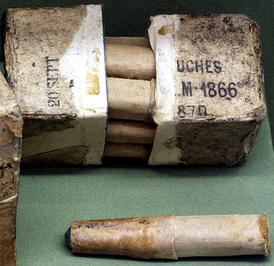 Патроны, использовавшиеся в винтовке Chassepot Mle 1866