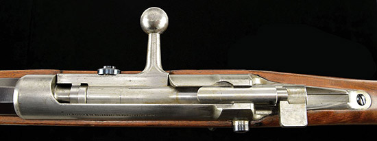 Вид на ствольную коробку сверху Mauser M 1878/80