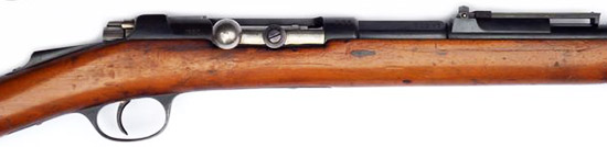 Вид на ствольную коробку, затвор и прицел Mauser-Milovanovic M 1880