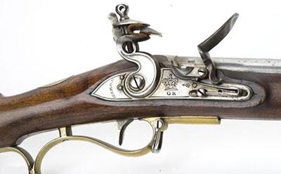 Вид на элементы управления Baker Rifle