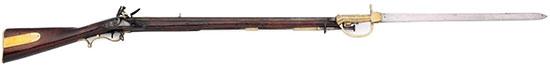 Baker Rifle с примкнутым штыком