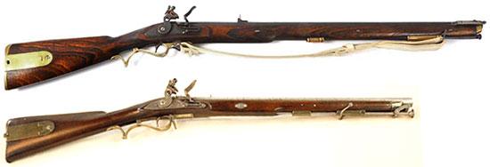 Baker Rifle: винтовка (сверху) и карабин (снизу)