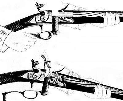 Ferguson rifle при заряжании