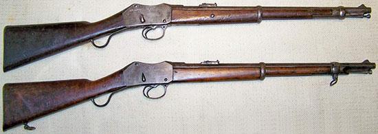Martini-Henry Cavalry Carbine Mk I (сверху) и Martini-Henry Artillery Carbine Mk I (снизу)