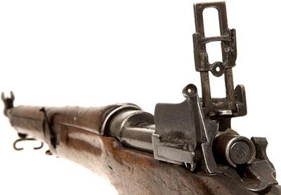 Enfield P14 (Rifle No.3). Хорошо видны прицельные приспособления